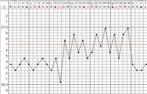 基礎体温が激しく上下する波形